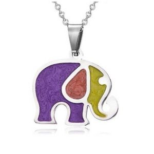 Sterling Sliver Elephant Necklace